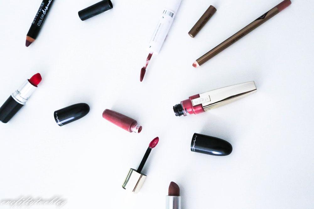 Lippenprodukte MAC, Maybelline, L'òreal, Charlotte Tilbury