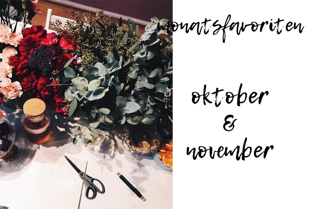 Monatsfavoriten Oktober und November & was der Dezember so bringt