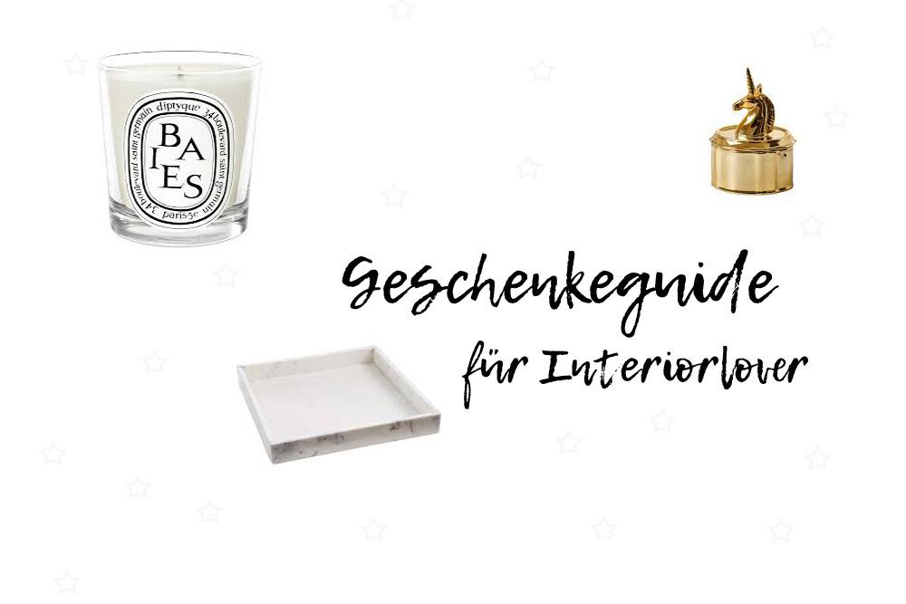Geschenkeguide für Interiorlover