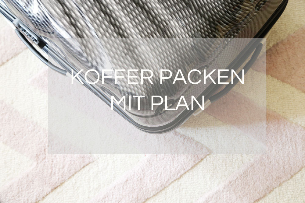 Kofferpacken mit Plan